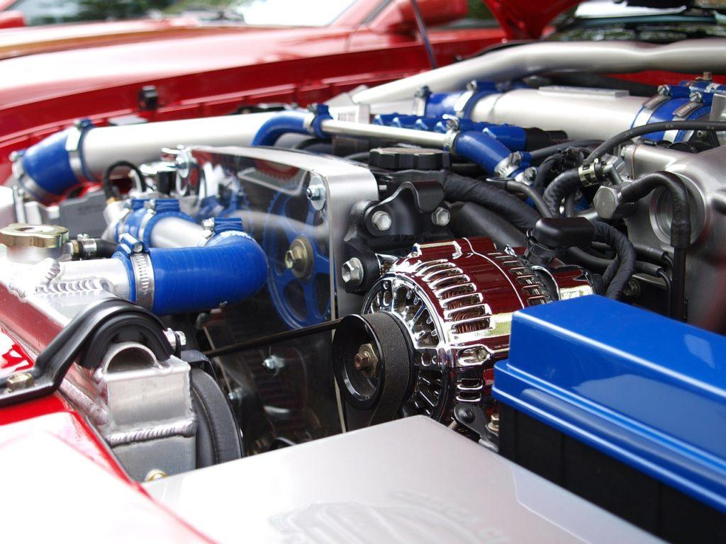 Luftmassenmesser in einem Motor gereinigt