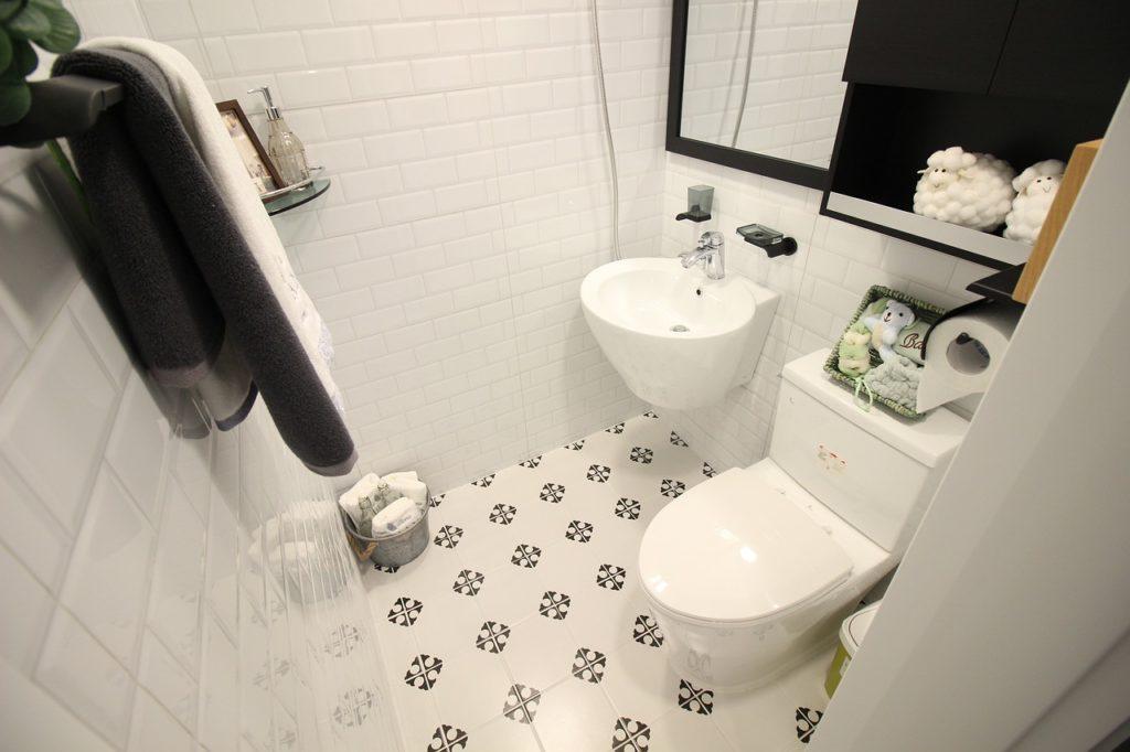 Bad mit WC Sitzreiniger